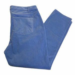 Baby Blue Y2K Corduroy High Rise Pants 16W